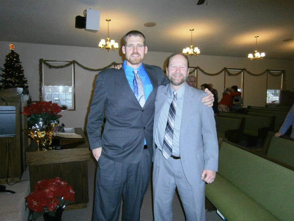 Pastor Harold with Church Member Brent Frisbee